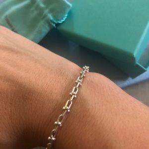 Tiffany and co hardwear micro link bracelet.